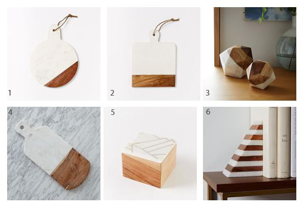 Fashion in Design: Marble and Wood