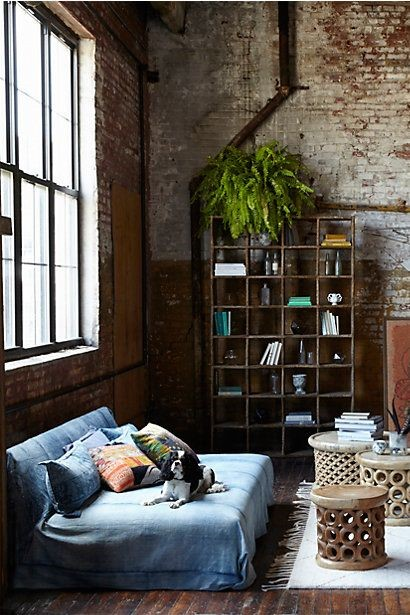 A lovely, loft space by Kim Ficaro for Anthropologie