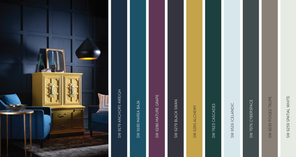sherwin williams 2017 paint color forecast noir