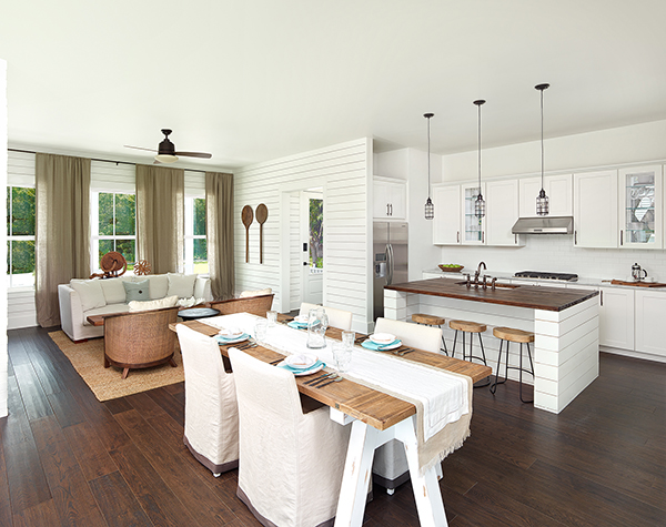 shiplap kitchen living room
