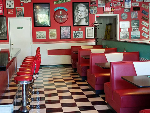 Retro color trend diner