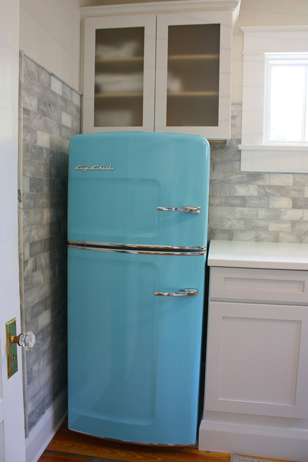 Retro color trend refridgerator