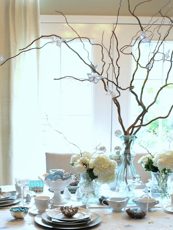 HGTV Easter tablescape