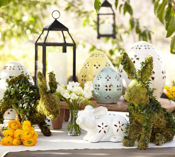 Pottery Barn ceramic bunnies Easter