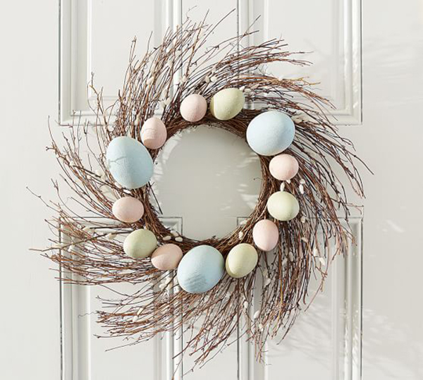 House Beautiful Easter egg wreath