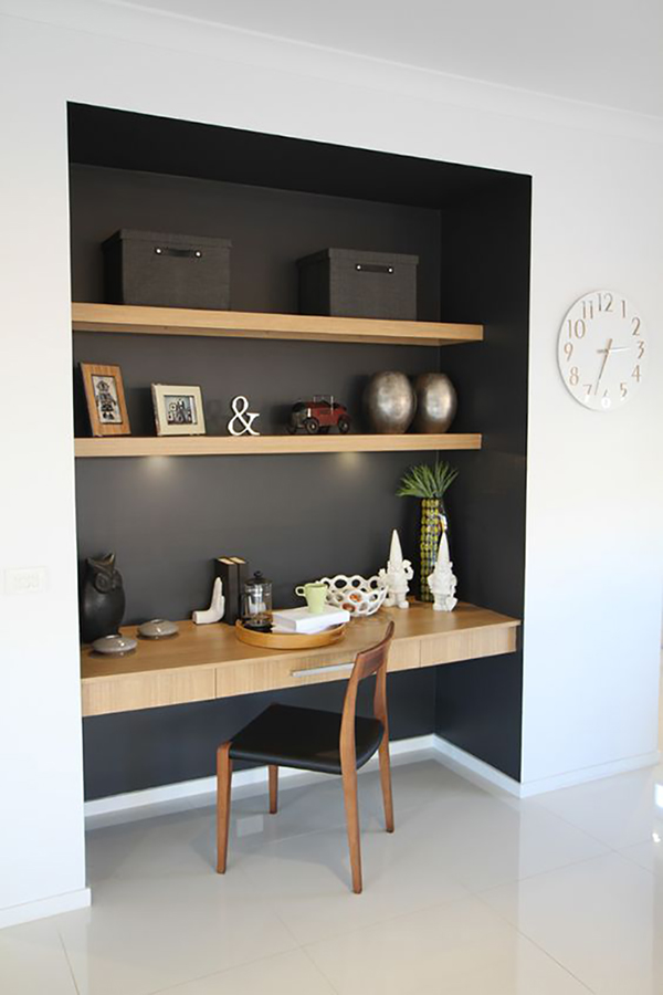 Black Office nook
