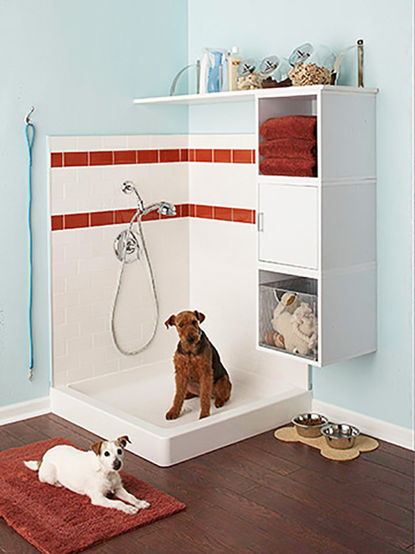 Better Homes and Gardens Mudroom dog shower