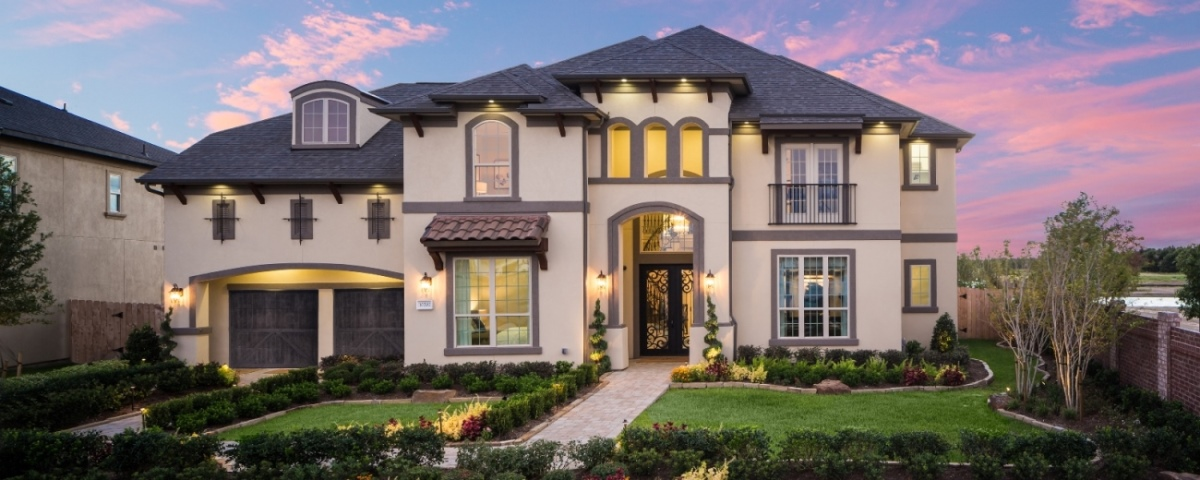 The Oxford model from Ashton Woods has 6 bedrooms and 6 1/2 baths.