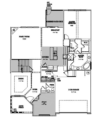 The Alexander at Kildaire Crossing, Cary - First Floor Options