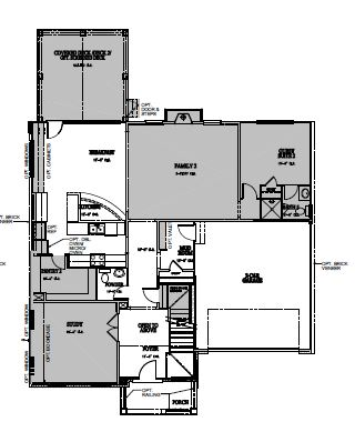 The Bartley at Kildaire Crossing, Cary - First Floor Options