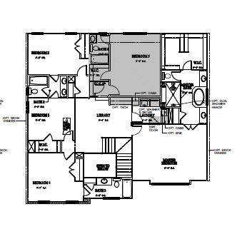 The Bartley at Kildaire Crossing, Cary - Second Floor Options
