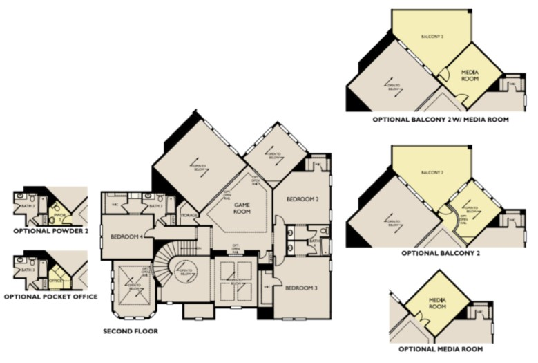 Bellagio I, Dripping Springs - Second Floor Options