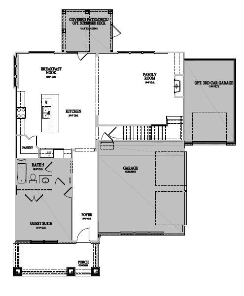 The Galloway at Amberly, Cary - First Floor Options