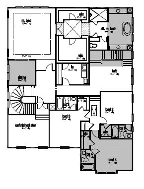 The Greenwood, Cary - Second Floor Options