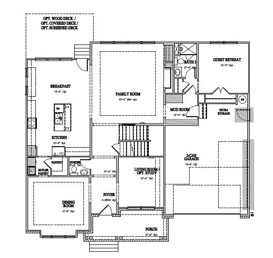 The Hanover at Amberly Estates, Cary - First Floor