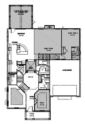 The Hastings at Amberly, Cary - First Floor Options