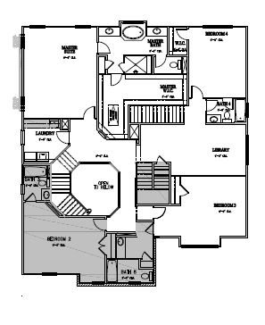 The Hastings at Amberly, Cary - Second Floor Options
