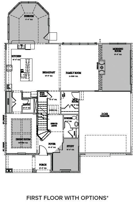 The Wentworth at Amberly, Cary - First Floor Options