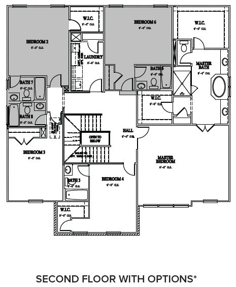 The Wentworth at Amberly, Cary - Second Floor Options