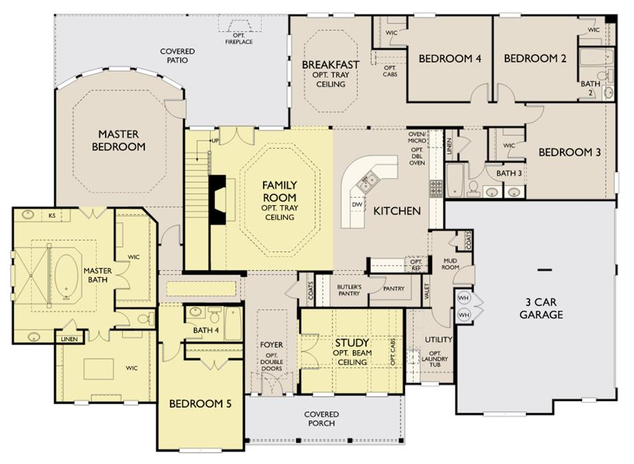 Cayden New Home Plan For Saratoga Hills Community In