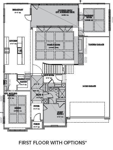 The Berkshire at Braemore, Cary - First Floor Options