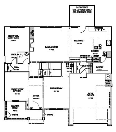The Greenville at Amberly, Cary - First Floor