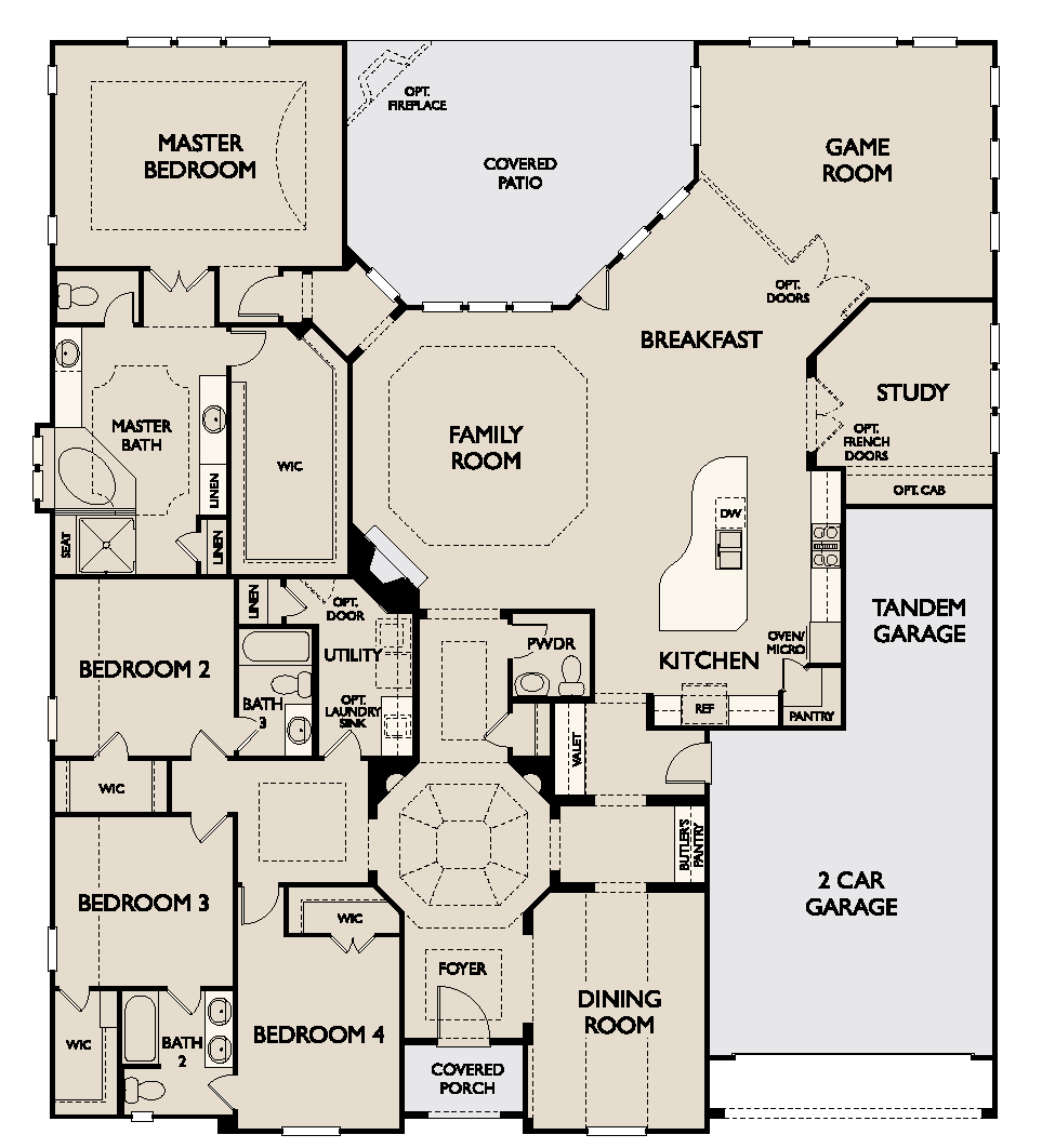 Tamarind new home plan for harmony community in houston for Houston house plans