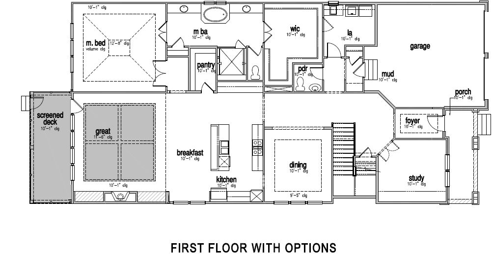 The Hartwell at Greys Landing,  - First Floor Options