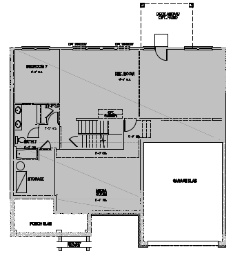 The Greenville, Cary - Basement Options
