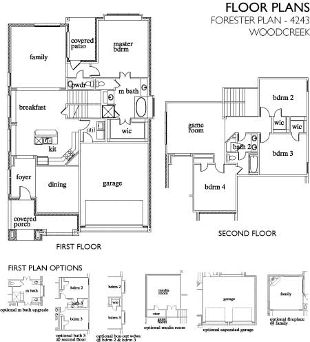 Forester,  - First Floor Options