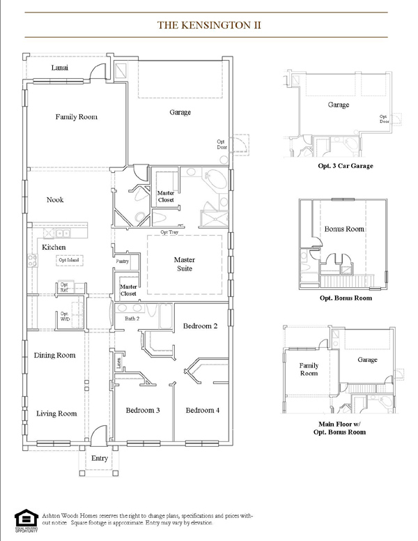 Kensington 2453 New Home Plan In Tampa By Ashton Woods