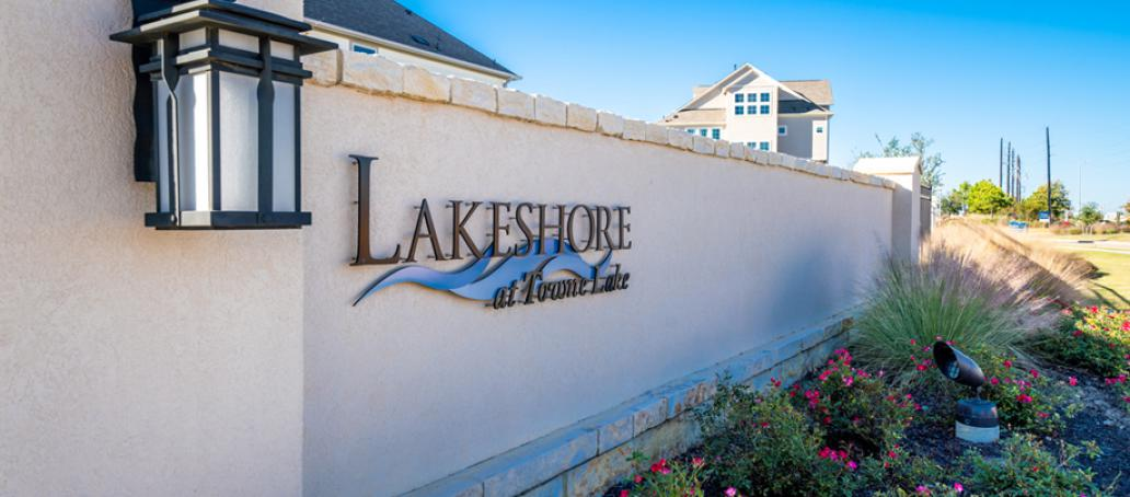 Lakeshore at Towne Lake Townhomes, Houston - Gated Entrance