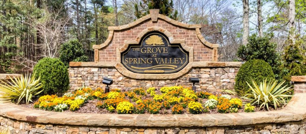 The Grove at Spring Valley, Atlanta - Entrance Monument