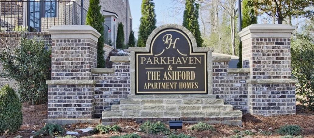 Parkhaven, Atlanta - Entrance Monument