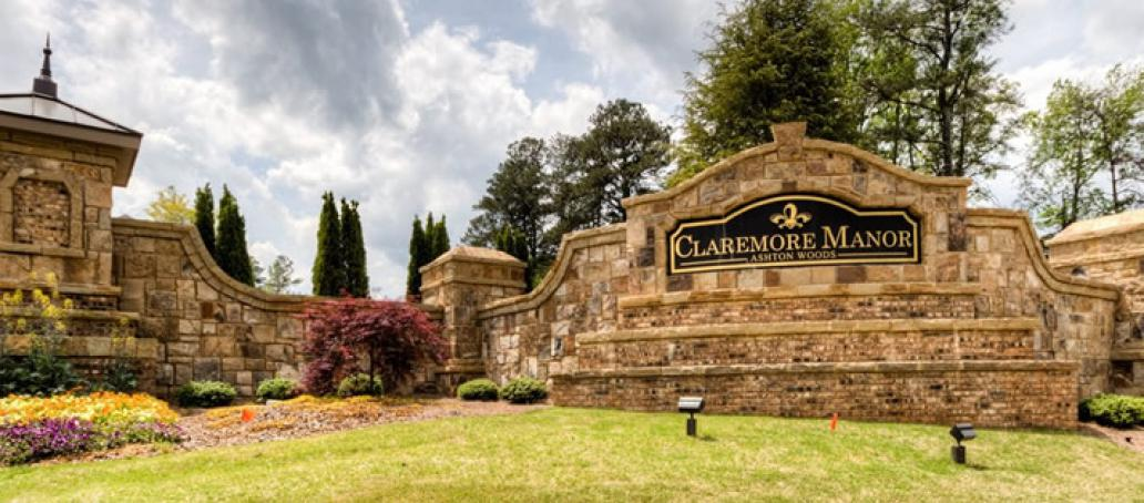Claremore Manor, Atlanta - Entrance Monument