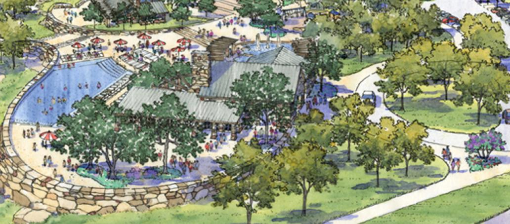 Canyon Falls, Dallas - Swimming Pool and Clubhouse