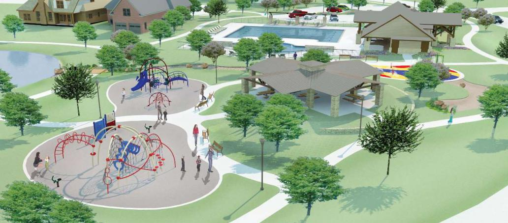 Creekside Ranch 60FT, Houston - Playground (Artist Rendering)
