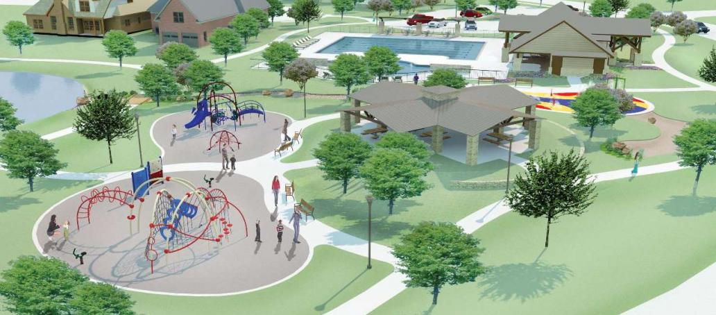 Creekside Ranch, Houston - Playground (Artist Rendering)
