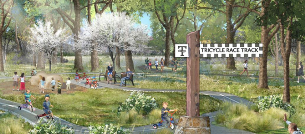 Trinity Falls, Dallas - Tricycle Race Track
