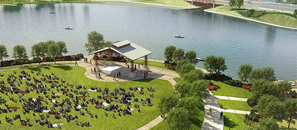 Lakeshore at Towne Lake Townhomes, Houston - Future Amphitheater