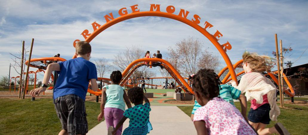 Inspirian Park at Eastmark, Phoenix - Orange Monster