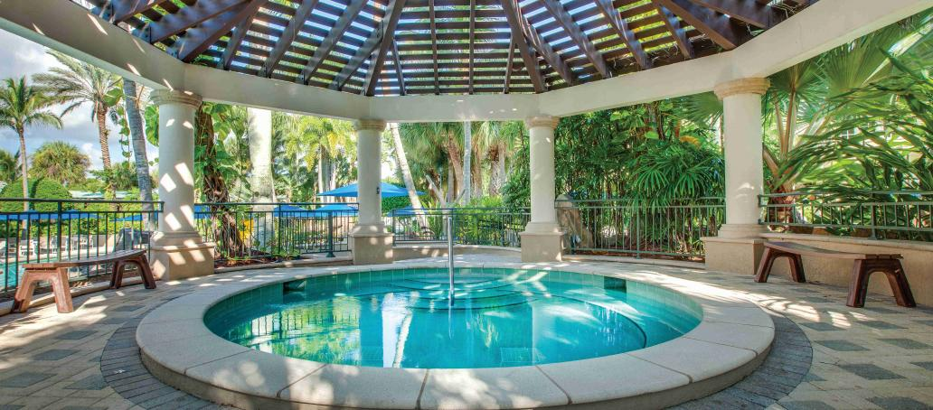 Marsh Cove at Fiddler's Creek, Naples - Gazebo Shaded whirlpool spa