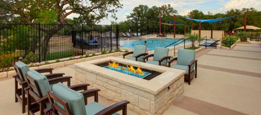 MorningStar, Austin - Lounge Area & Fire Pit