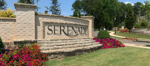 Serenade Single-Family Homes, Atlanta - Entrance Monument