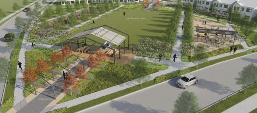 The Station - Townhomes, Dallas - Event Lawn