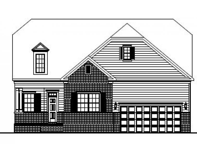The Alexander at Kildaire Crossing, Cary - Elevation B