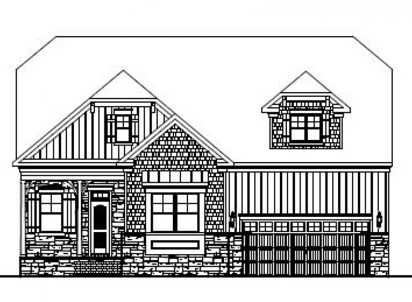 The Alexander at Kildaire Crossing, Cary - Elevation C