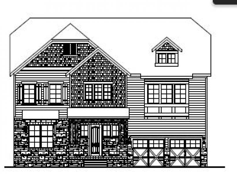 The Bartley at Kildaire Crossing, Cary - Elevation C