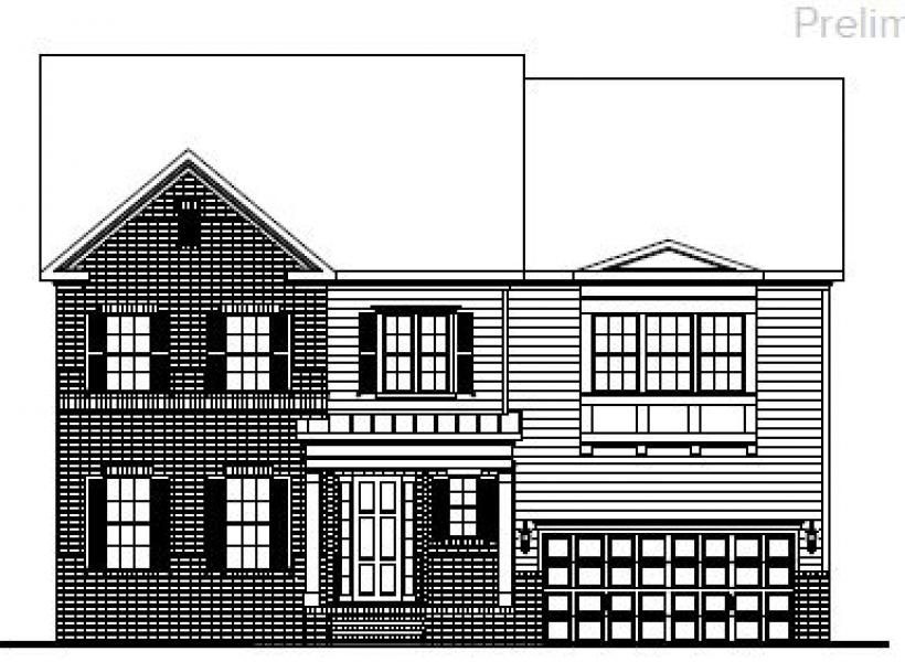 The Bartley at Kildaire Crossing, Cary - Elevation A