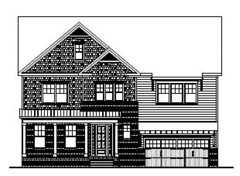 The Bartley at Kildaire Crossing, Cary - Elevation B